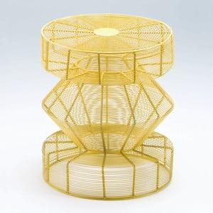 Žlutá stolička Thain Natura, výška 50cm