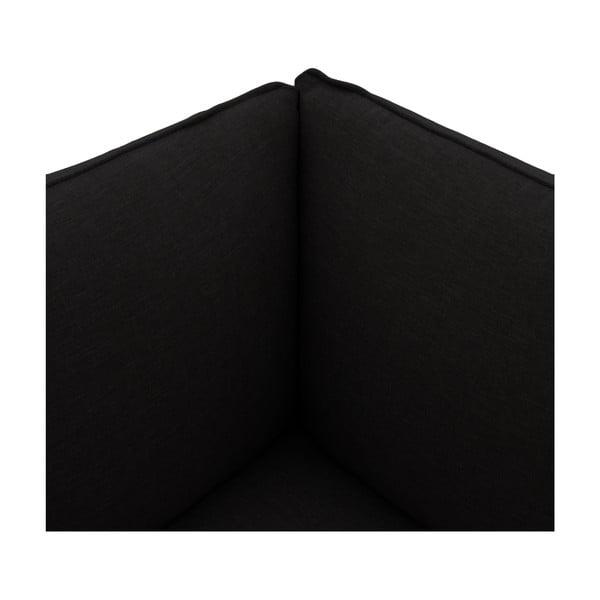 Tmavě hnědé křeslo Vivonita Cube, pravá strana