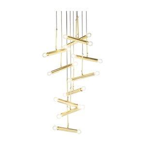 Stropní svítidlo ve zlaté barvě Kare Design Cluster