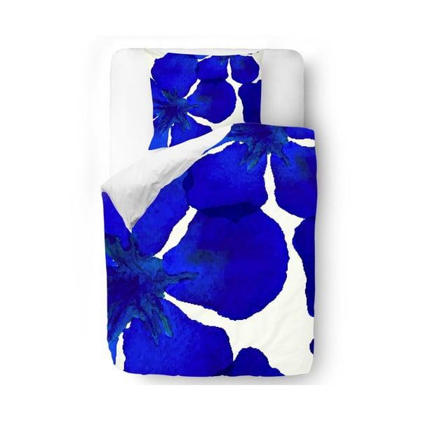 Povlečení Blue Abstract Flowers, 140x200 cm