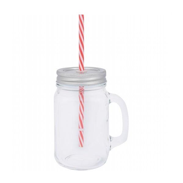 Farma pohár fedéllel és szívószállal, 450 ml - Ego Dekor