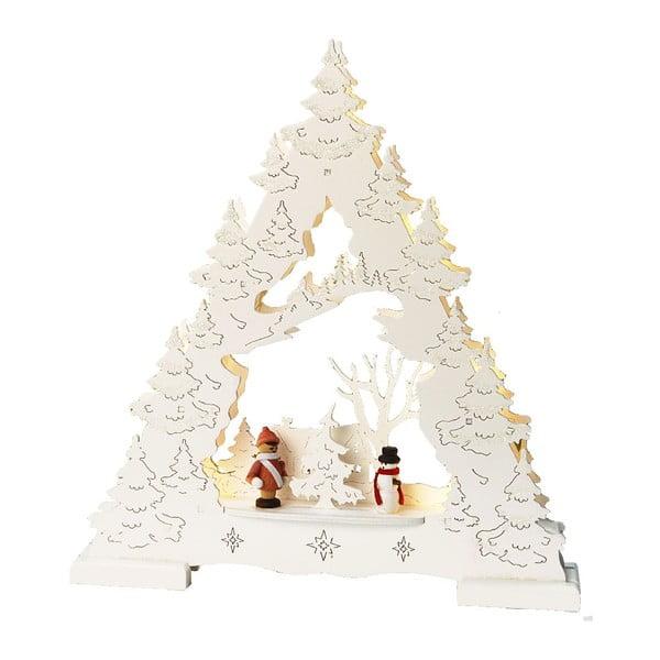 Bílá LED světelná dekorace Best Season Baumgarten, výška 27 cm