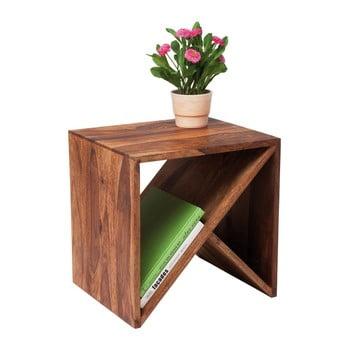 Măsuță din lemn de palisandru Kare Design Zigzag