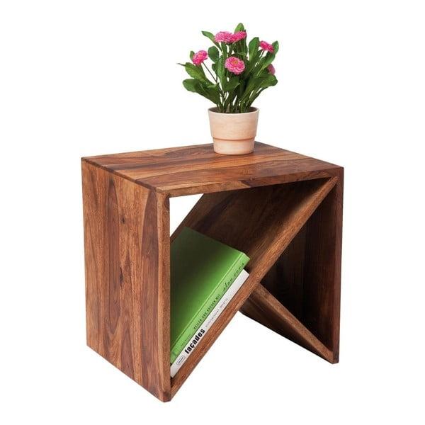 Príručný stolík z palisandrového dreva Kare Design Zigzag