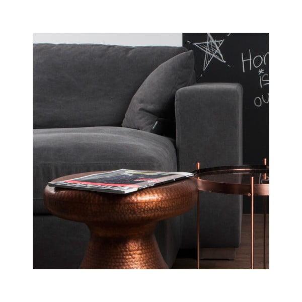 Stolička/odkládací stolek v měděné barvě Zuiver Antique