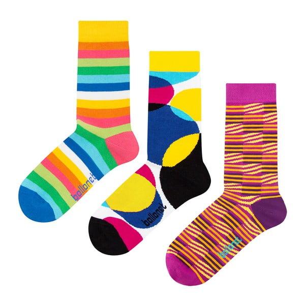 Set 3 perechi de șosete Ballonet Socks Stripy în cutie de cadou, mărime 41 - 46