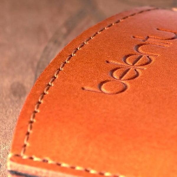 Kožený obal na Samsung Galaxy S4 mini Cognac