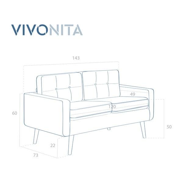 Pastelově modrá dvoumístná pohovka Vivonita Ina