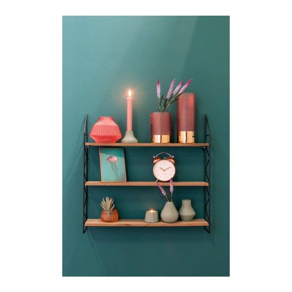 Růžová skleněná váza PT LIVING, Ø 16 cm