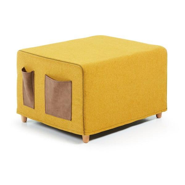 Žlutá rozkládací postel La Forma Kos, 70x180cm