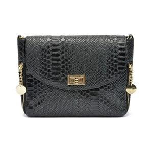 Černá kožená kabelka Roberta M Bruna