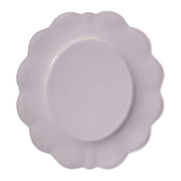 Sada 4 ks dezertních talířů Petale Lilac