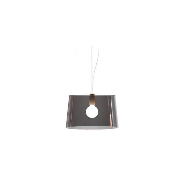 Závěsné světlo L001S/B, transparentní kouřová