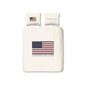 Povlečení USA, 140x200 cm, bílé