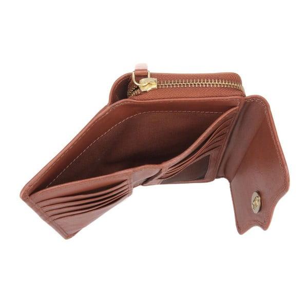 Kožená peněženka Alondra Cognac