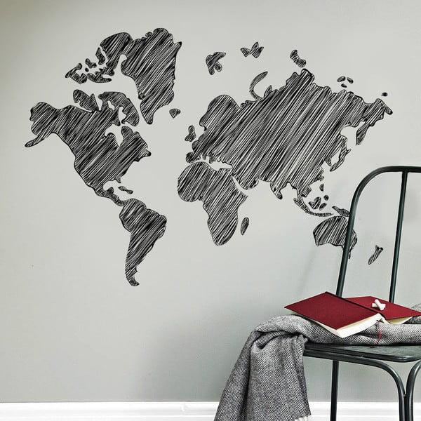 Samolepka na stěnu Kreslená mapa