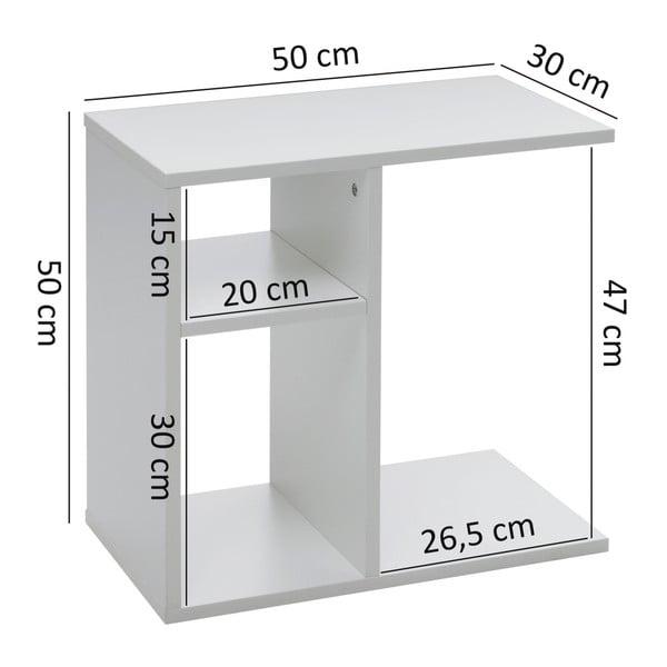 Bílý příruční stolek Skyport Wohnling Milo, výška 50 cm