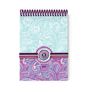 Spirálový zápisník A6 Makenotes Purple&Pale, 100 STRÁNEK