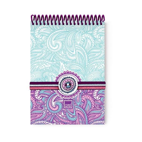 Purple&Pale A6 spirál notesz, 100 oldal - Makenotes