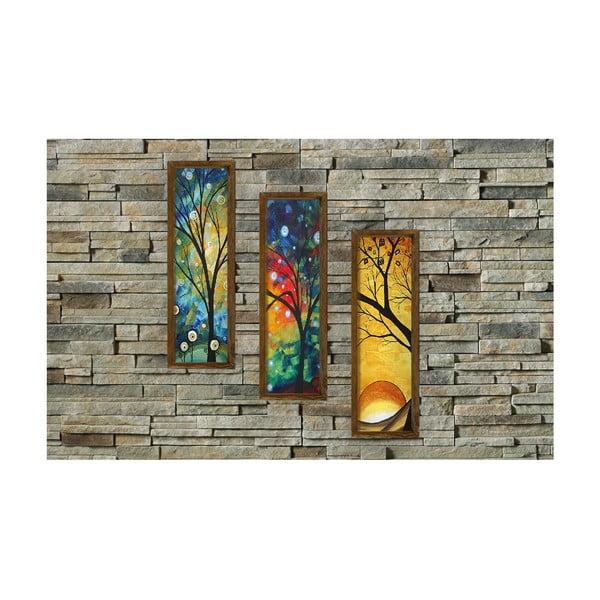 Dekoratívny viacdielny obraz Four Seasons, 19×70 cm