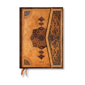 Diář na rok 2019 Paperblanks Safavid Horizontal, 13 x 18 cm