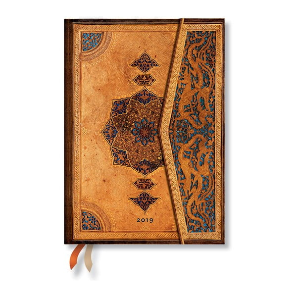 Safavid Horizontal 2019-es határidőnapló, 13 x 18 cm - Paperblanks