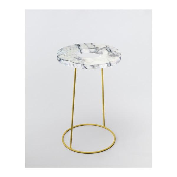 Bílý stojan na deštníky/květináč v dekoru mramoru Velvet Atelier