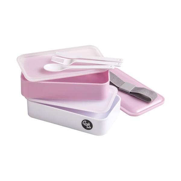 Růžový svačinový box Premier Housewares, 19 x 11 cm
