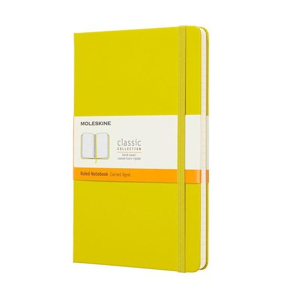Caiet dictando cu copertă rezistentă Moleskine, 192 pag., galben