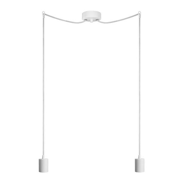 Dvojité závěsné kabely Cero, bílá/bílá/bílá