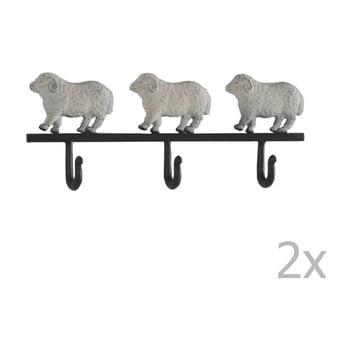 Set 2 cuiere pentru perete Geese Sheeps imagine