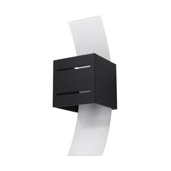 Černé nástěnné svítidlo Nice Lamps Carlo