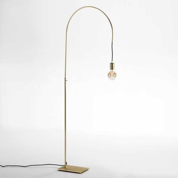 Volně stojící lampa z kovu ve zlatém provedení Thai Natura