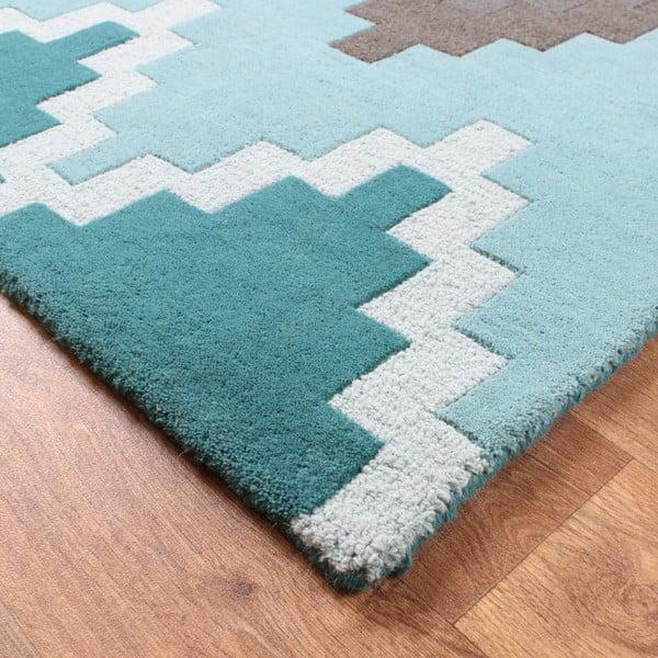 Vlněný koberec Cuzzo Teal 200x300 cm