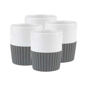 Sada 4 ks hrnků Espresso Grey
