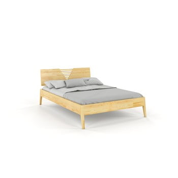 Pat din lemn de pin Skandica Visby Wolomin, 180 x 200 cm, natural imagine