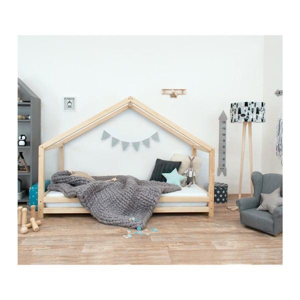 Detská posteľ z lakovaného smrekového dreva Benlemi Sidy, 120 × 200 cm