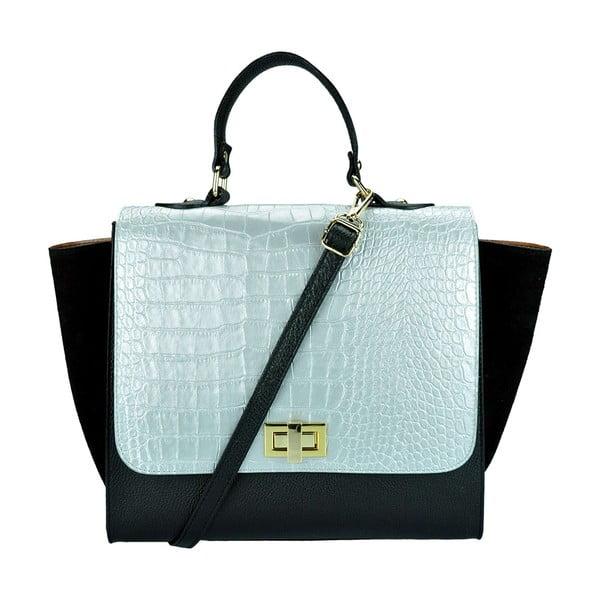 Kožená kabelka Noemi Silver & Black