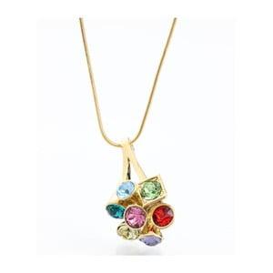 Náhrdelník s krystaly Swarovski Laura Bruni Multi Gold, 45 cm