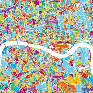 Obraz Homemania Maps London, 60x60cm