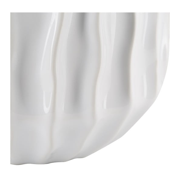 Bílostříbrná keramická váza Mauro Ferretti Frise, 14x46cm