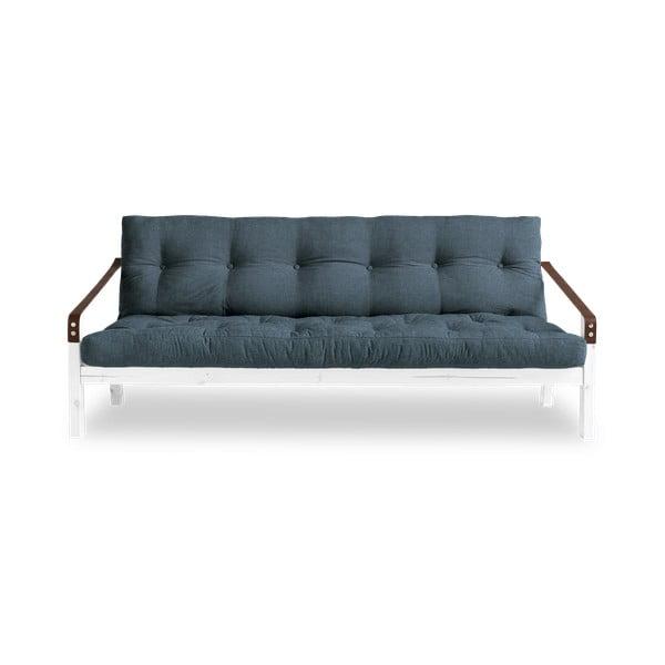 Poetry White/Deep Blue sötétkék kinyitható kanapé - Karup Design