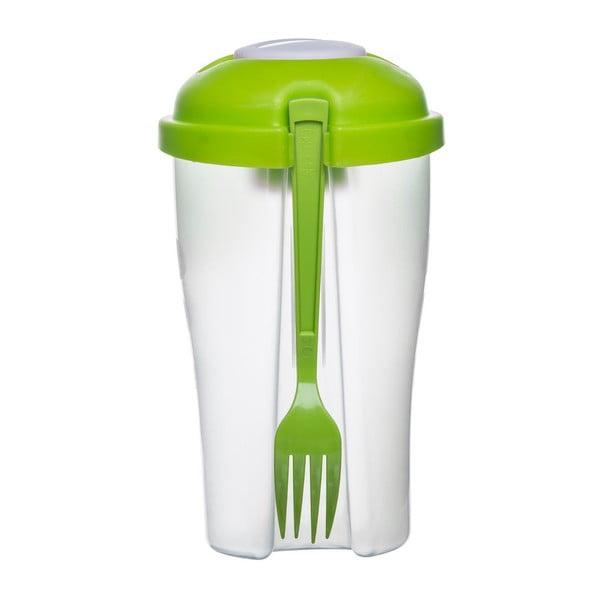 Zelená svačinová miska na salát Sagaform