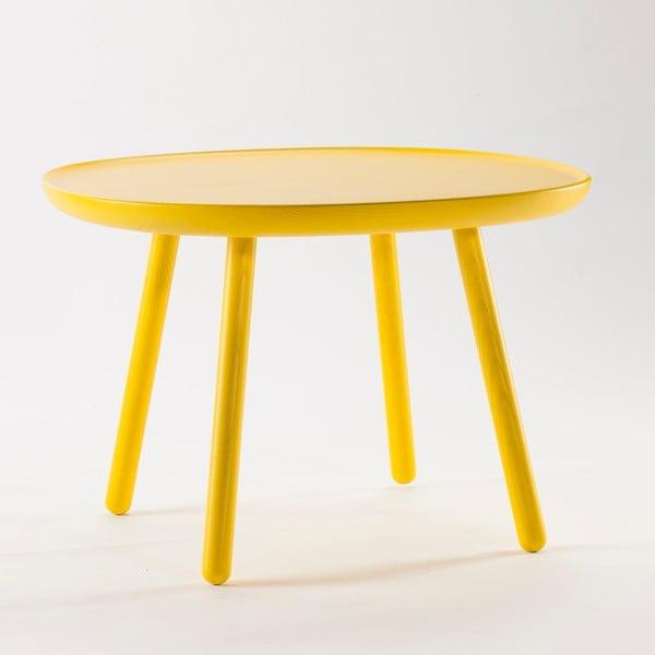 Żółty stolik z litego drewna EMKO Naïve Large