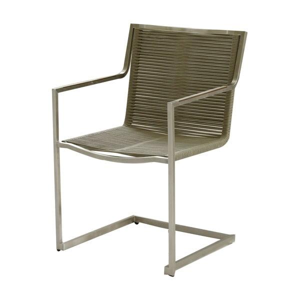 Sienna barna kerti szék rozsdamentes acélból - ADDU