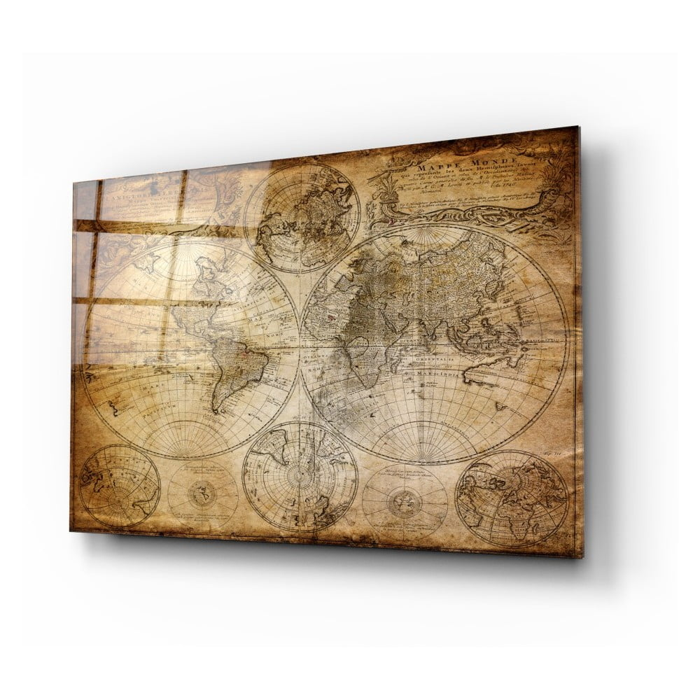Skleněný obraz Insigne World Map 110 x 70 cm