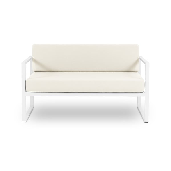 Beżowa 2-osobowa sofa ogrodowa Calme Jardin Nicea