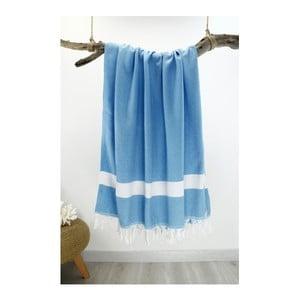 Prosop Hammam Diamond Style, 100  x  180 cm, albastru deschis