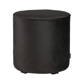 Puf din catifea WOOOD Sara, ⌀ 46 cm, negru de la WOOOD