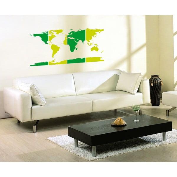 Samolepka Mapa světa, 110x51,6 cm